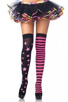 Stars and Stripes - Overknees von Leg Avenue